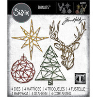 Sizzix - Thinlits Die - Geo Christmas