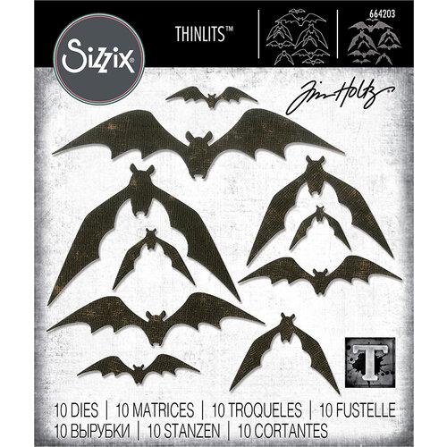 Sizzix - Halloween - Thinlits Die - Bat Crazy