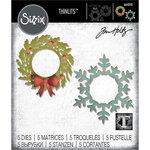 Sizzix - Christmas - Thinlits Die - Wreath & Snowflake