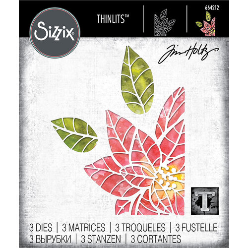 Sizzix - Christmas - Thinlits Die - Poinsettia Pieces