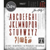 Sizzix - Tim Holtz - Thinlits Die - Alphanumeric Classic Upper