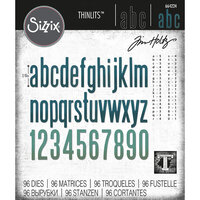 Sizzix - Tim Holtz - Thinlits Die - Alphanumeric Classic Lower