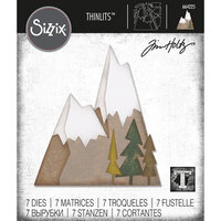 Sizzix - Tim Holtz - Thinlits Die - Alpine