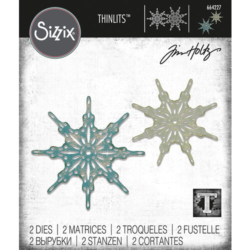 Sizzix - Christmas - Tim Holtz - Thinlits Die - Fanciful Snowflakes