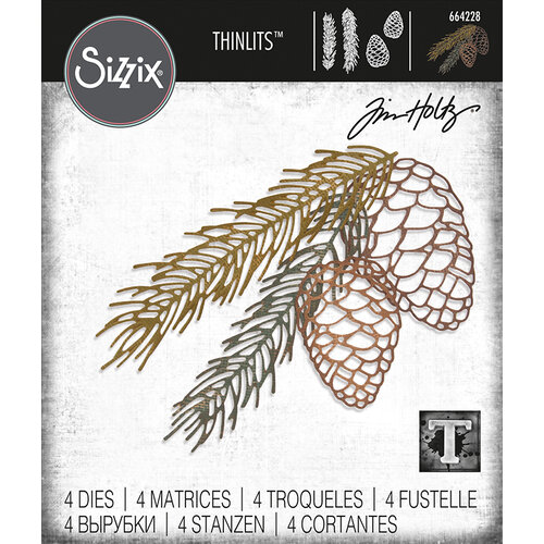 Sizzix - Christmas - Tim Holtz - Thinlits Die - Pine Branch