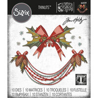 Sizzix - Christmas - Tim Holtz - Thinlits Die - Deck the Halls, Colorize