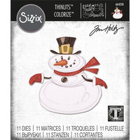 Sizzix - Christmas - Tim Holtz - Thinlits Die - Mr. Snowman, Colorize