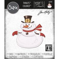 Sizzix - Tim Holtz - Christmas - Thinlits Die - Mr. Snowman, Colorize