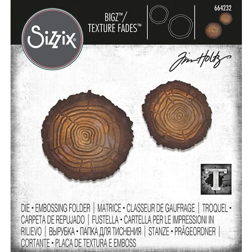 Sizzix - Tim Holtz - Bigz Die with Texture Fades - Mini Tree Rings