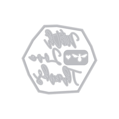 Sizzix - Impresslits - Embossing Folder - Floral Hexagon