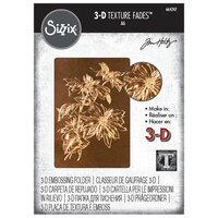 Sizzix - Christmas - Tim Holtz - 3D Texture Fades - Embossing Folder - Poinsettia