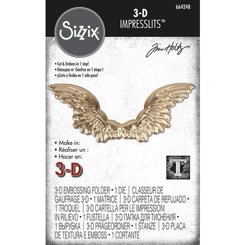 Sizzix - Tim Holtz - 3D Impresslits - Embossing Folder - Winged