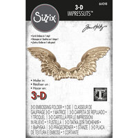Sizzix - Tim Holtz - 3D Impresslits - Embossing Folder - Winged