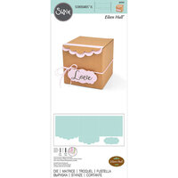 Sizzix - Bigz XL Die - Gift Box with Scallop Edges and Label