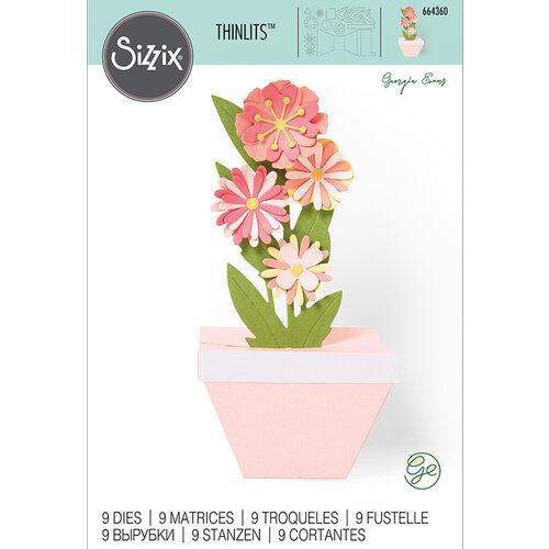 Sizzix - Thinlits Die - Pop-Up Plant Pot
