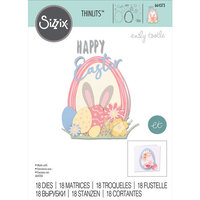 Sizzix - Thinlits Die - Easter Sentiments