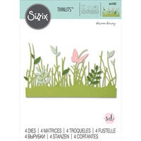 Sizzix - Thinlits Die - Springtime Borders
