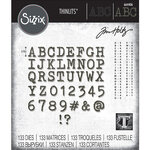 Sizzix - Tim Holtz - Thinlits Die - Alphanumeric Tiny Type Upper