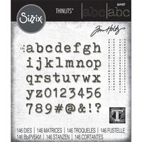 Sizzix - Tim Holtz - Thinlits Die - Alphanumeric Tiny Type Lower