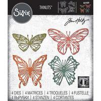 Sizzix - Tim Holtz - Thinlits Die - Scribbly Butterflies