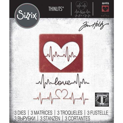 Sizzix - Tim Holtz - Thinlits Die - Heartbeat