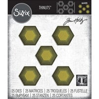 Sizzix - Tim Holtz - Thinlits Die - Stacked Tiles - Hexagons