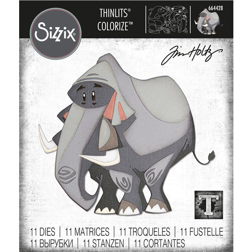 Sizzix - Tim Holtz - Thinlits Die - Clarence - Colorize