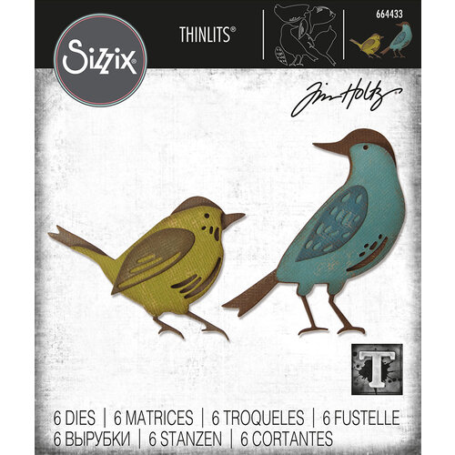 Sizzix - Tim Holtz - Thinlits Die- Feathered Friends