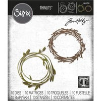 Sizzix - Tim Holtz - Thinlits Die- Funky Wreath
