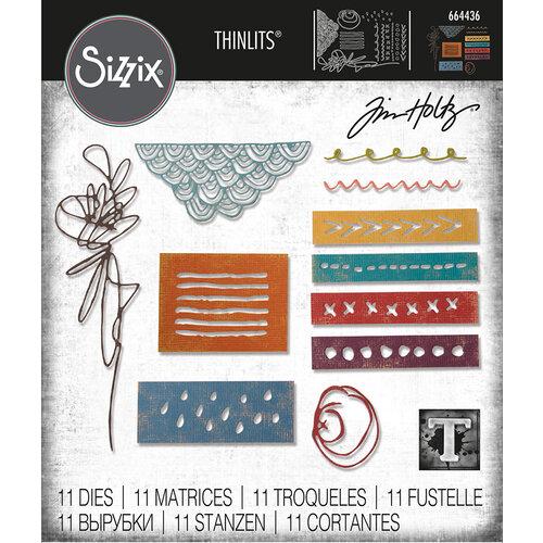 Sizzix - Tim Holtz - Thinlits Die - Media Marks