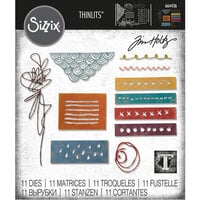Sizzix - Tim Holtz - Thinlits Die - Media Marks
