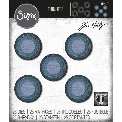 Sizzix - Tim Holtz - Thinlits Die - Stacked Circles