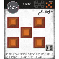 Sizzix - Tim Holtz - Thinlits Die - Stacked Squares