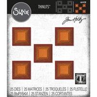 Sizzix - Tim Holtz - Thinlits Die - Stacked Squares