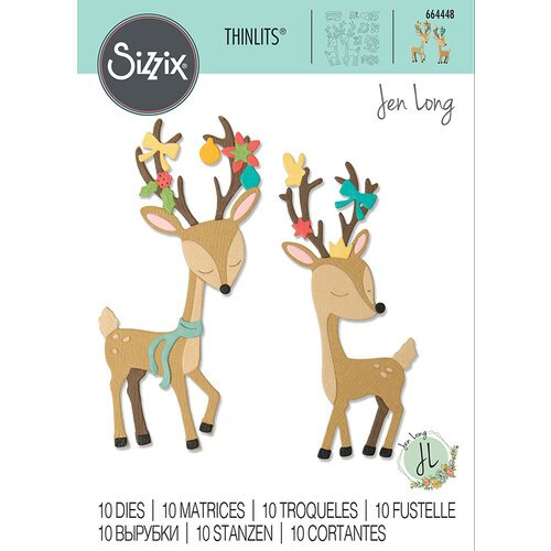 Sizzix - Thinlits Die - Christmas Deer