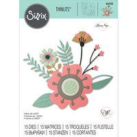 Sizzix - Thinlits Die - Creative Florals