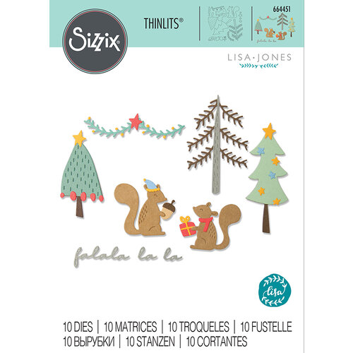 Sizzix - Christmas - Thinlits Die - Festive Tails
