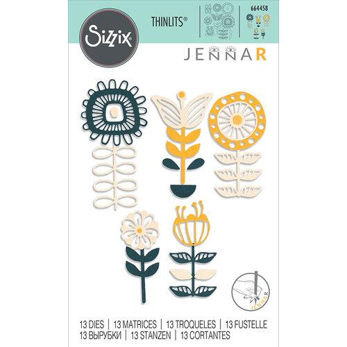 Sizzix - Thinlits Die - Stackable Florals