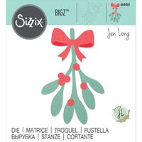 Sizzix - Christmas - Bigz Die - Mistletoe Leaves