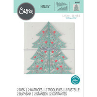 Sizzix - Thinlits Die - Christmas Tree Card