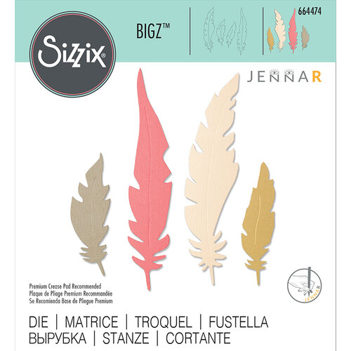 Sizzix - Bigz Die - Natural Feathers