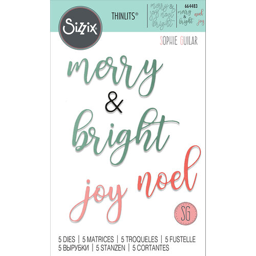 Sizzix - Christmas - Thinlits Die - Winter Phrases