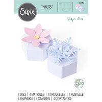 Sizzix - Thinlits Dies - Box, Seasonal Hexagon