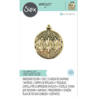 Sizzix - Christmas - 3D Textured Impressions - Embossing Folders - Ornament