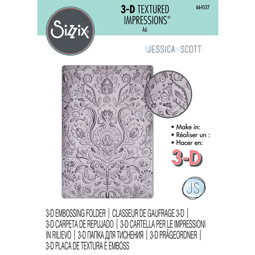 Sizzix - 3D Textured Impressions - Embossing Folders - Folk Doodle