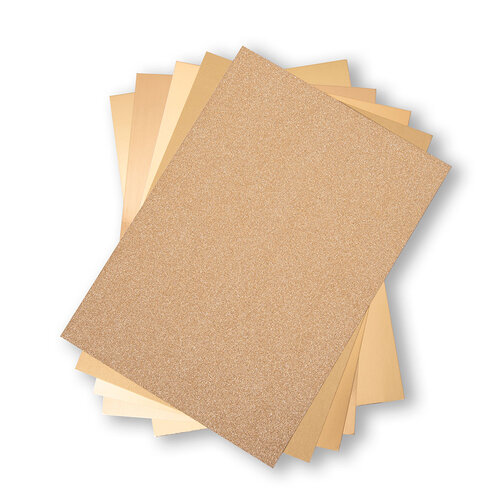 Sizzix - Surfacez Collection - 8 x 11.5 - Opulent Cardstock Pack - 50 Pack - Gold