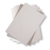 Sizzix - Surfacez Collection - 8 x 11.5 - Opulent Cardstock Pack - 50 Pack - Silver