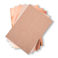 Sizzix - Surfaces - 8.5 x 11 - Opulent Cardstock Pack - 50 Pack - Rose Gold