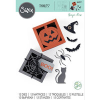 Sizzix - Halloween - Thinlits Die - Box Spooky Silhouette