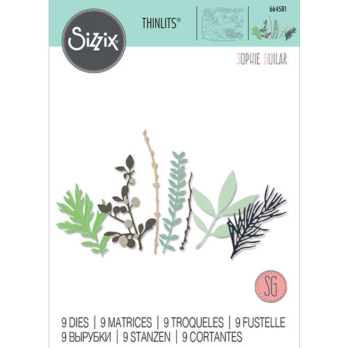 Sizzix - Thinlits Die - Hidden Leaves